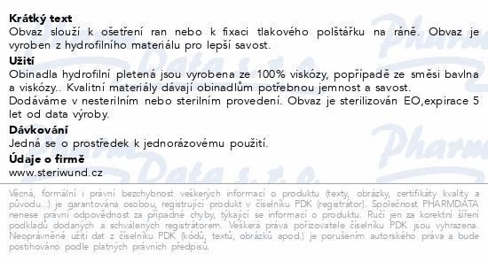 Informace o produktu Obin. hydrofil.pletené ster.12cmx5m/1ks Steriwund