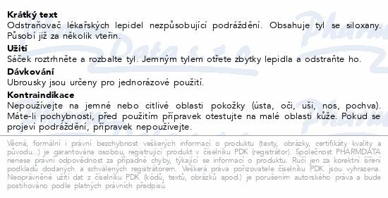 Informace o produktu Odstraňovač medic.adheziv NILTAC ubrousky 30ks