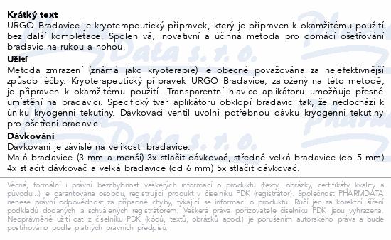 Informace o produktu URGO Bradavice kryoterapie 38ml