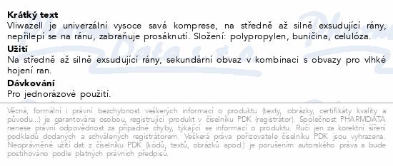 Informace o produktu Komprese Vliwazell nester.vys.absorp. 10x20cm 25ks