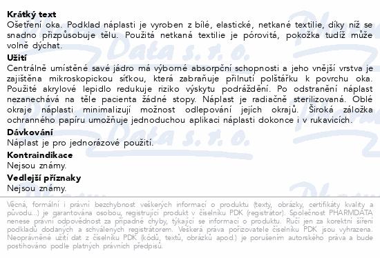 Informace o produktu Fixopore S sterilní náplast ovál 6.5x9.5cm 50ks