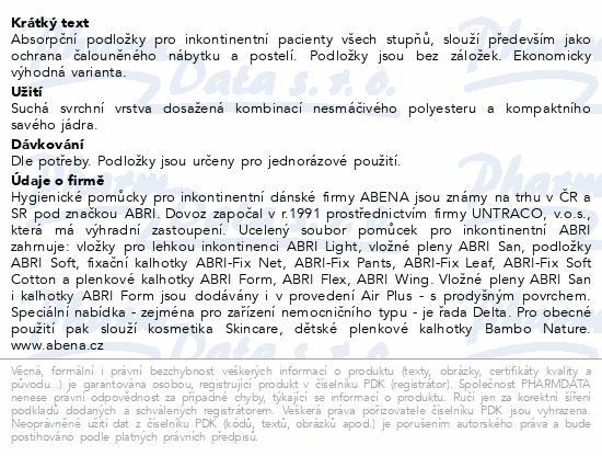 Informace o produktu Inkont.podl. Abri Soft ECO 60x60cm 60ks