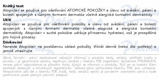 Informace o produktu Atopiclair crm.1x40ml
