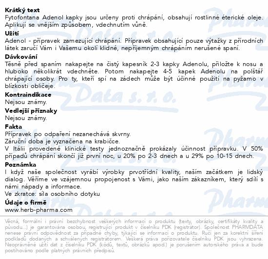Informace o produktu Fytofontana Adenol kapky proti chrápání 10ml