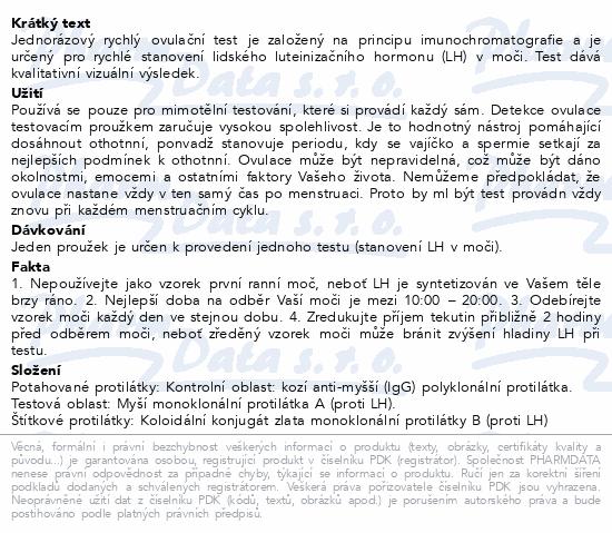 Informace o produktu PRENATAL rychlý ovulační test 5ks