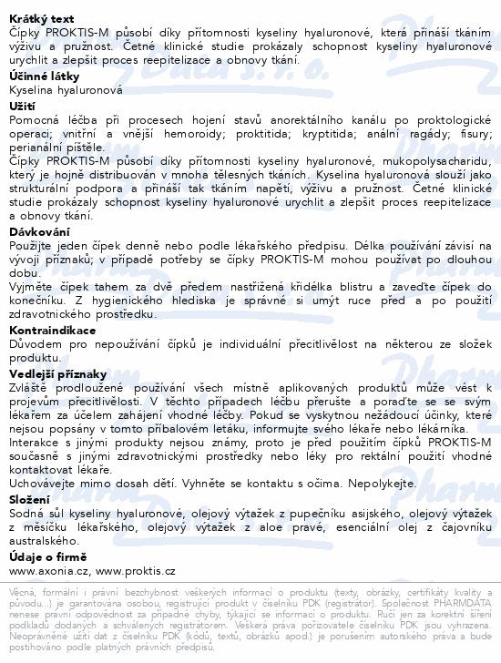 Informace o produktu PROKTIS-M rektální čípky 10x2g