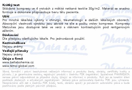 Informace o produktu Matovlies kompresy netk.text.30g 5x5cm 100ks