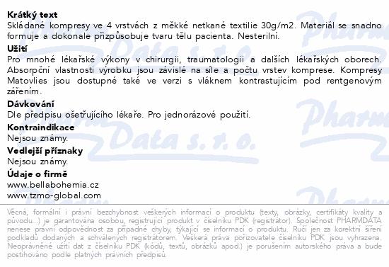 Informace o produktu Matovlies kompres netk.text30g 7.5x7.5cm 100ks