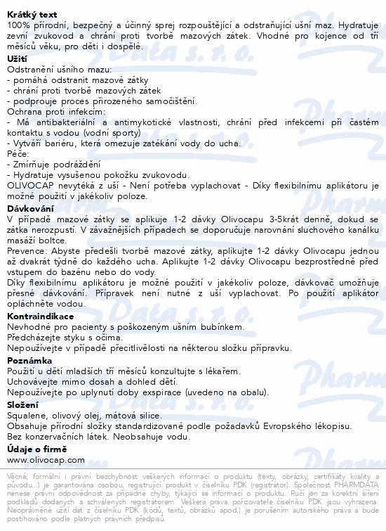 Informace o produktu Olivocap 15 ml ušní sprej
