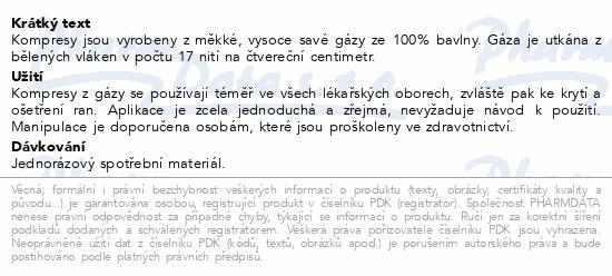Informace o produktu Gáza hydr.kompr.ster.10x20cm/5ks Steriwund