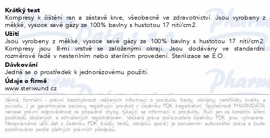 Informace o produktu Gáza hydr.kompr.ster.7.5x7.5cm/5ks Steriwund