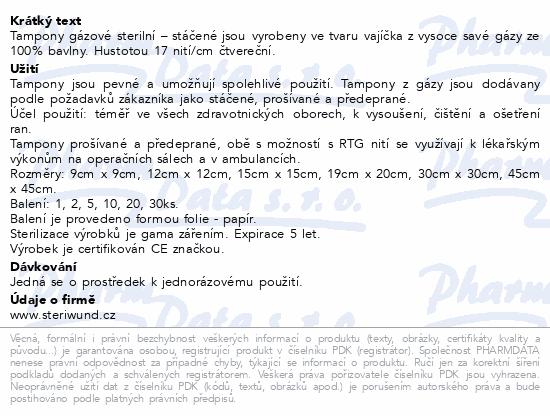Informace o produktu Tampón stáčený z gázy steril. 19x20/3ks Steriwund