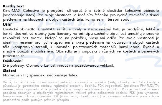 Informace o produktu KineMAX Cohesive elast.samofix.7.5cmx4.5m červ.
