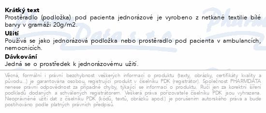 Informace o produktu Prostěr.-podl.jednor.100x220cm netk.text.Steriwund