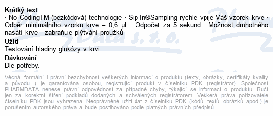 Informace o produktu Proužky diagnostické Contour PLUS 50ks