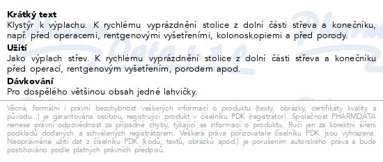 Informace o produktu Klysma salinické 10x135ml