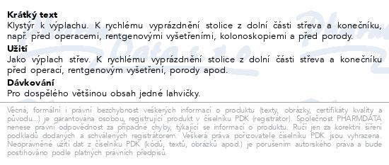 Informace o produktu Klysma salinické 135ml