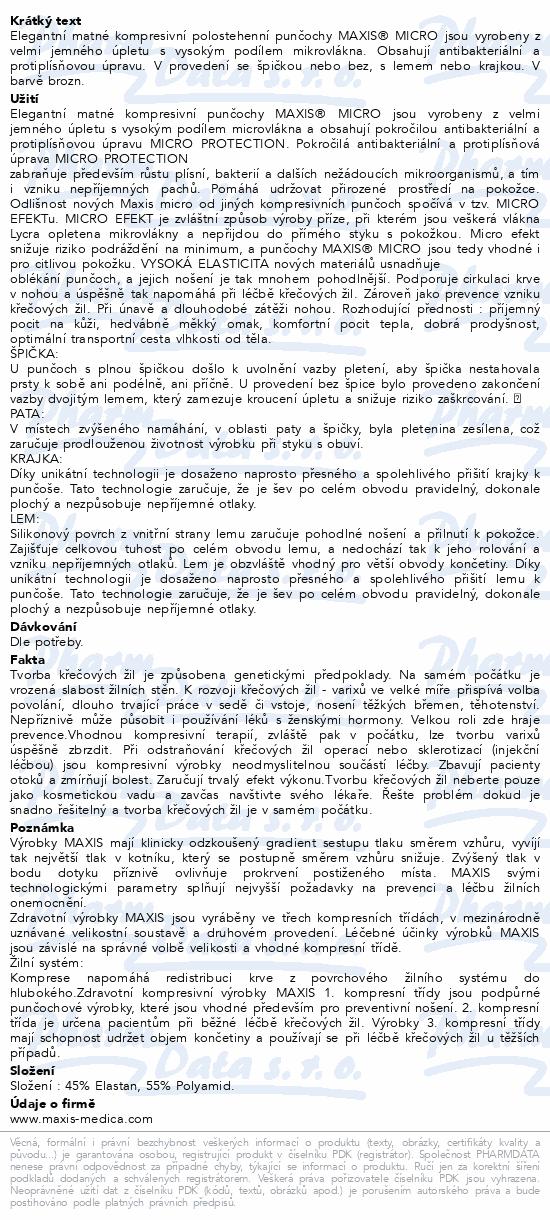 Informace o produktu Maxis MICRO polost.punč.vel.6K kraj.bronz bez šp.