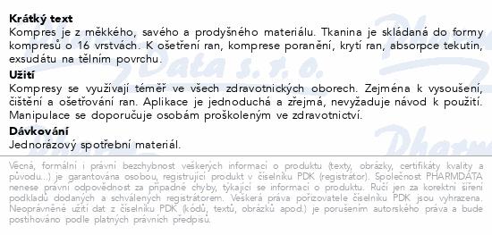 Informace o produktu Gáza kompr.16vrstv.ster.23x25cm/2ks Steriwund