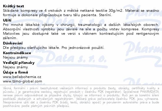 Informace o produktu Matovlies kompresy z net.text.30g 10x10cm 2ks
