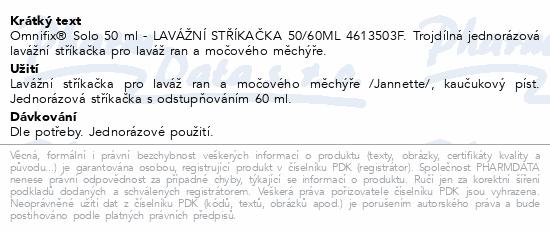 Informace o produktu LAVÁŽNÍ STŘÍKAČKA 50/60ML