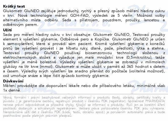 Informace o produktu Gukometr Gluneo-pouzd.+přístr.+prouž.+lancety+pero