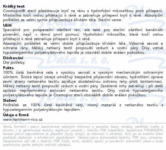 Informace o produktu Rychloobvaz COSMOPOR 20x10cm steril 1ks