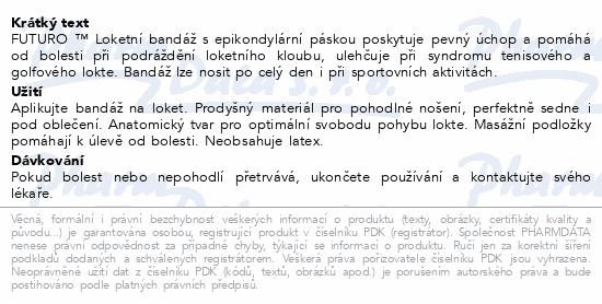 Informace o produktu 3M FUTURO Loket.bandáž s epik.páskou47862DAB vel.M
