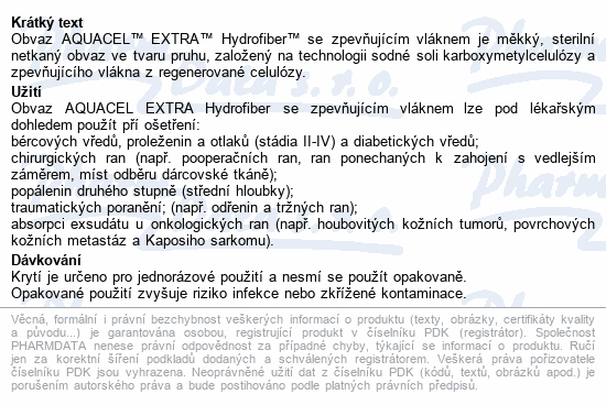 Informace o produktu Aquacel extra 10x10cm 10ks