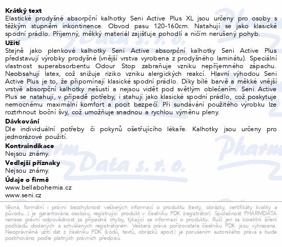 Informace o produktu Seni Active Plus Extra Large 10ks ink. plen. kalh.