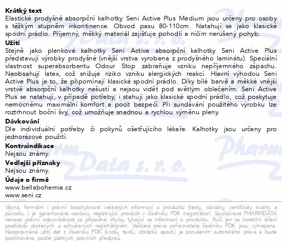 Informace o produktu Seni Active Plus Medium 10ks ink. plen. kalh.