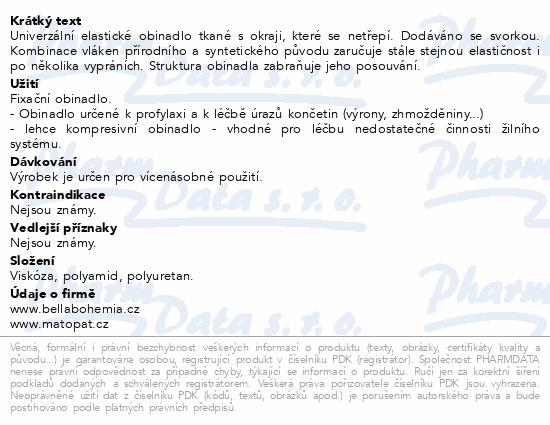 Informace o produktu Obinadlo Matopat UNIVERSAL 10cm x 4m elastic.tkané