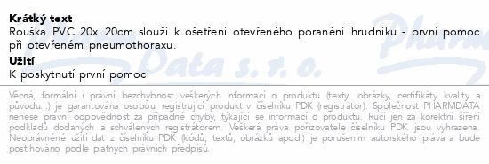 Informace o produktu Rouška plastová 20x20 1ks Steriwund