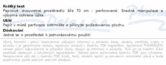 Informace o produktu Papír na vyš.lůž.2 vrst. perf. 70cm Steriwund