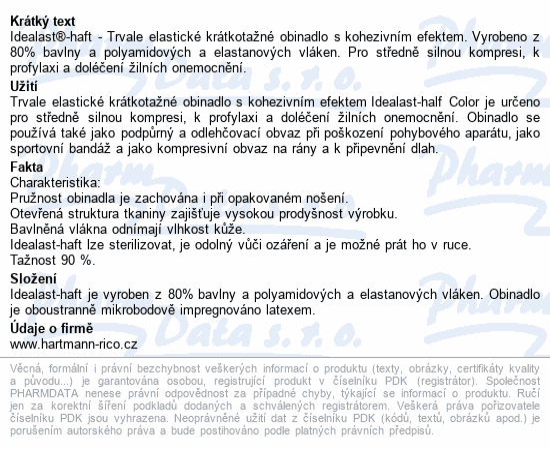 Informace o produktu Obin.elast.Idealast-haft color 6cmx4m/1ks modrá