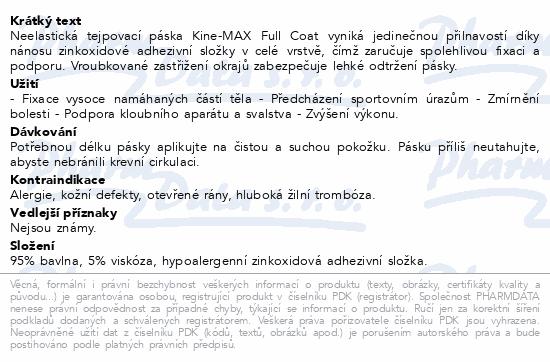 Informace o produktu KineMAX Full Coat neelast. tejp 2.5cmx10m