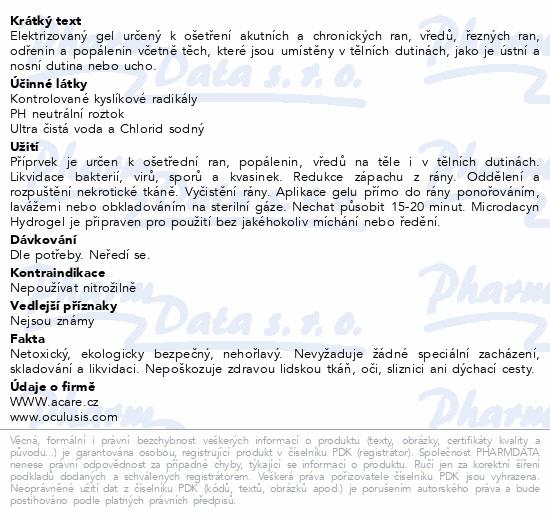 Informace o produktu Microdacyn Hydrogel 250g s aplikátorem