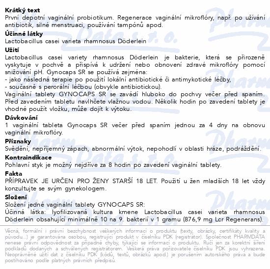 Informace o produktu Gynocaps SR tbl.2