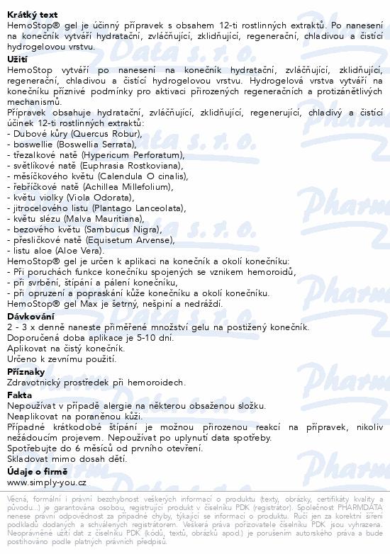 Informace o produktu HemoStop Gel Max Da Vinci Academia 75ml