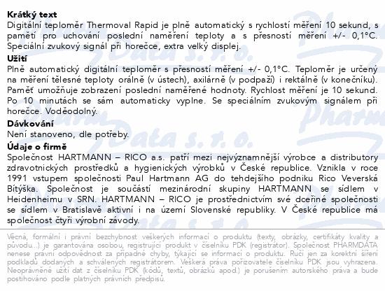 Informace o produktu Teploměr digi.THERMOVAL Rapid 1ks