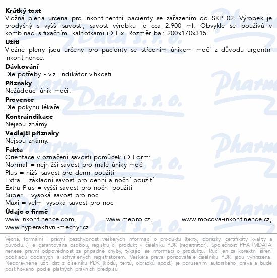 Informace o produktu iD Form Super 21ks