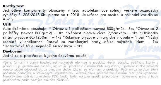 Informace o produktu Autolékárnička vyhl.č.206/2018 provedení plast