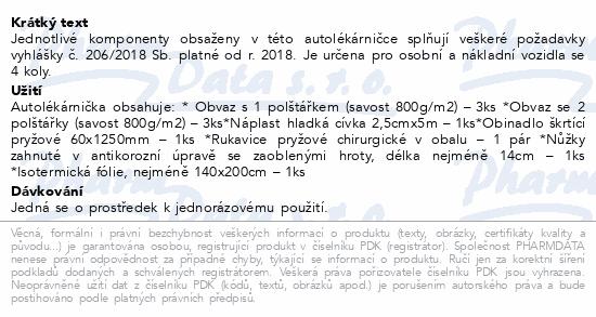 Informace o produktu Autolékárnička vyhl.č.206/2018 provedení textil