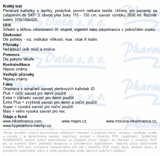 Informace o produktu iD Slip Large Extra 561036530 30ks