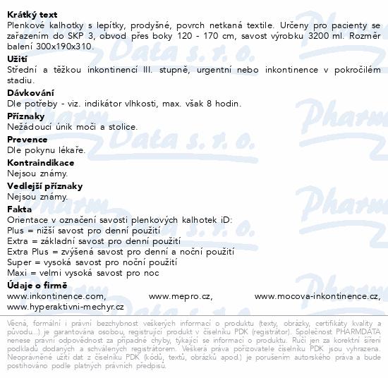 Informace o produktu iD Slip X-Large Plus 563046014 14ks