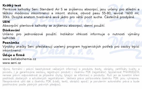 Informace o produktu Seni Standard Air Small 30ks plenkové kalhotky