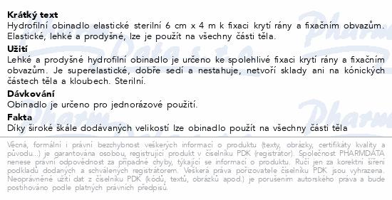 Informace o produktu Obin.hydrofil.sterilní elastické 6cmx4m 1ks