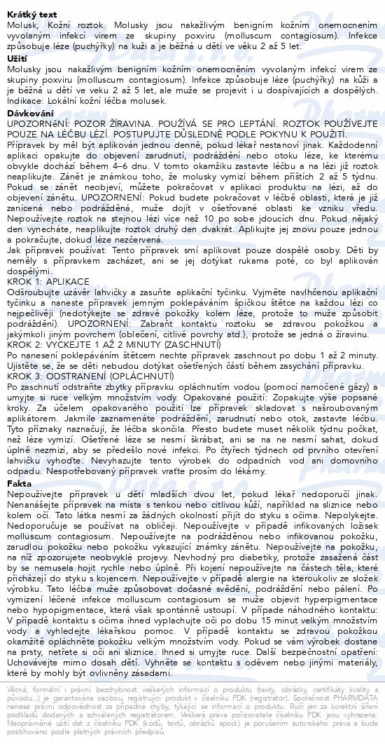 Informace o produktu Molusk sol.3g