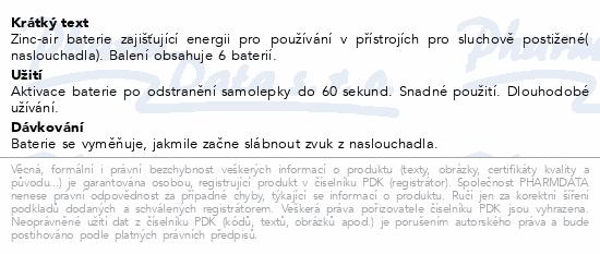 Informace o produktu Rayovac Extra Adv.10 baterie do naslouchadel 6ks