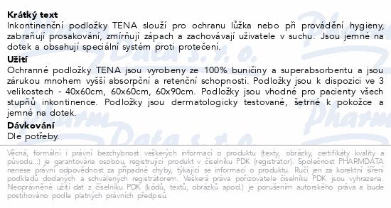 Informace o produktu TENA Bed 60x90cm 1350ml ink.podl.10ks 770040